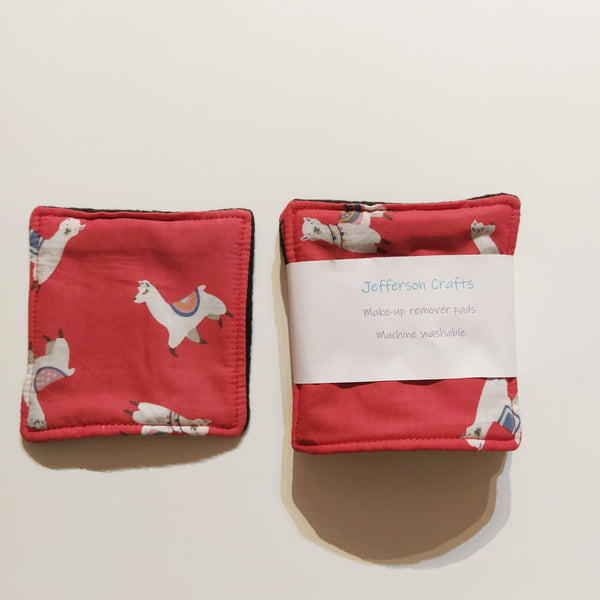 Jefferson Crafts make up wipes - llama design