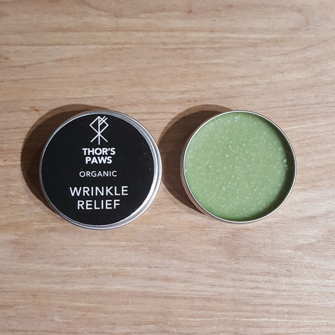 Natural plastic free wrinkle relief for dogs
