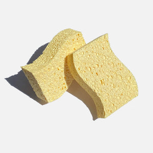 Biodegradable wood pulp kitchen sponges - 2 pack