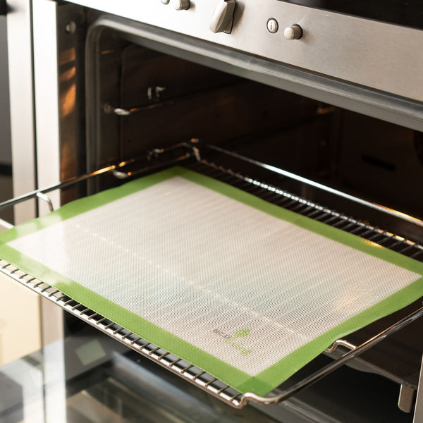 Reusable Baking Sheet in the oven