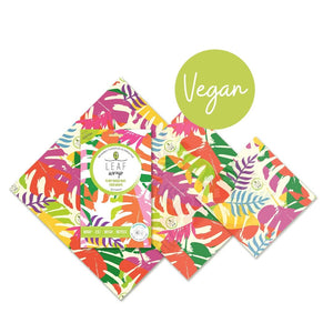 Beebee Leaf Vegan Wax Wraps - Mixed 3 pack - Botanic design