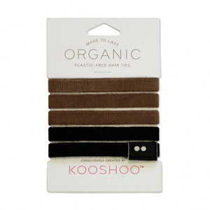 Plastic free Hair Ties - Brunette