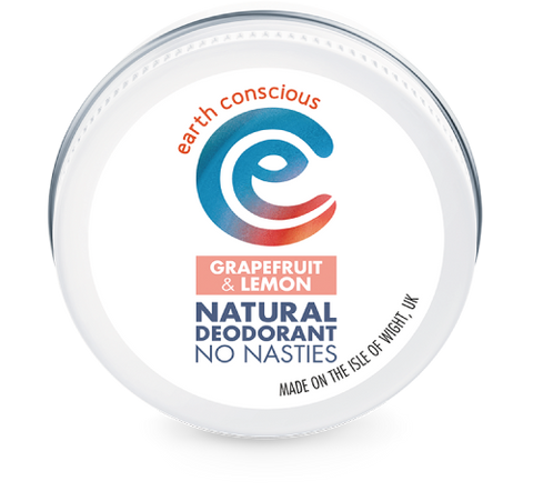 Earth Conscious Plastic free deodorant in tin - grapefruit