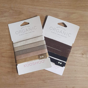 Plastic free Hair Ties - Blonde and Brunette