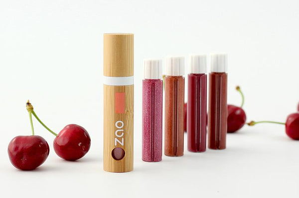 ZAO refillable lip gloss in four colours