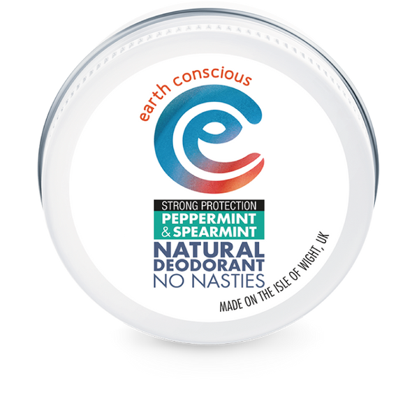 Earth Conscious Plastic free deodorant in tin - mint