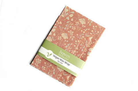 Vegan Wax Wraps - Pink Floral