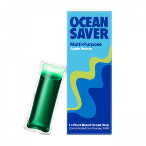 OceanSaver plastic free Refill drops - multipurpose cleaner - apple