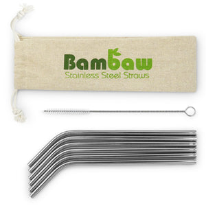 Stainless Steel Straws - 6 pack