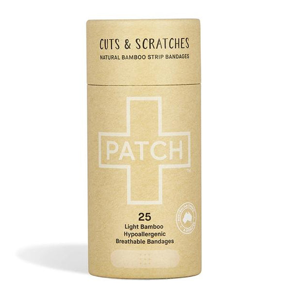 Patch Biodegradable Plasters - natural. Cardboard tube