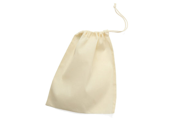 Drawstring Cotton Produce Bag - Medium closed