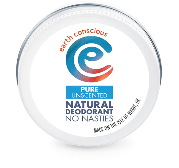 Earth Conscious Plastic free deodorant in tin - pure unscented