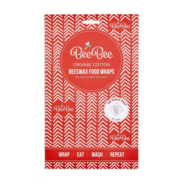 Beeswax wraps - Red Chevron - front packaging