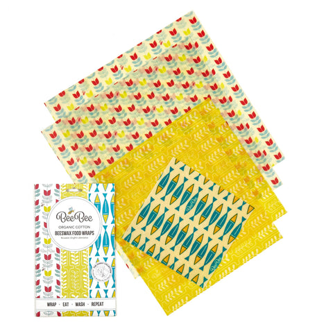 Beeswax Wraps - Family Collection x 5
