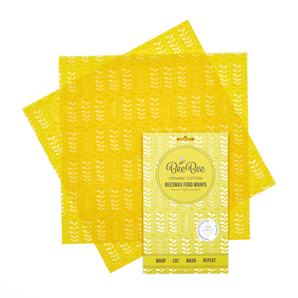 Beeswax Wraps - Wheat - Sandwich Pack