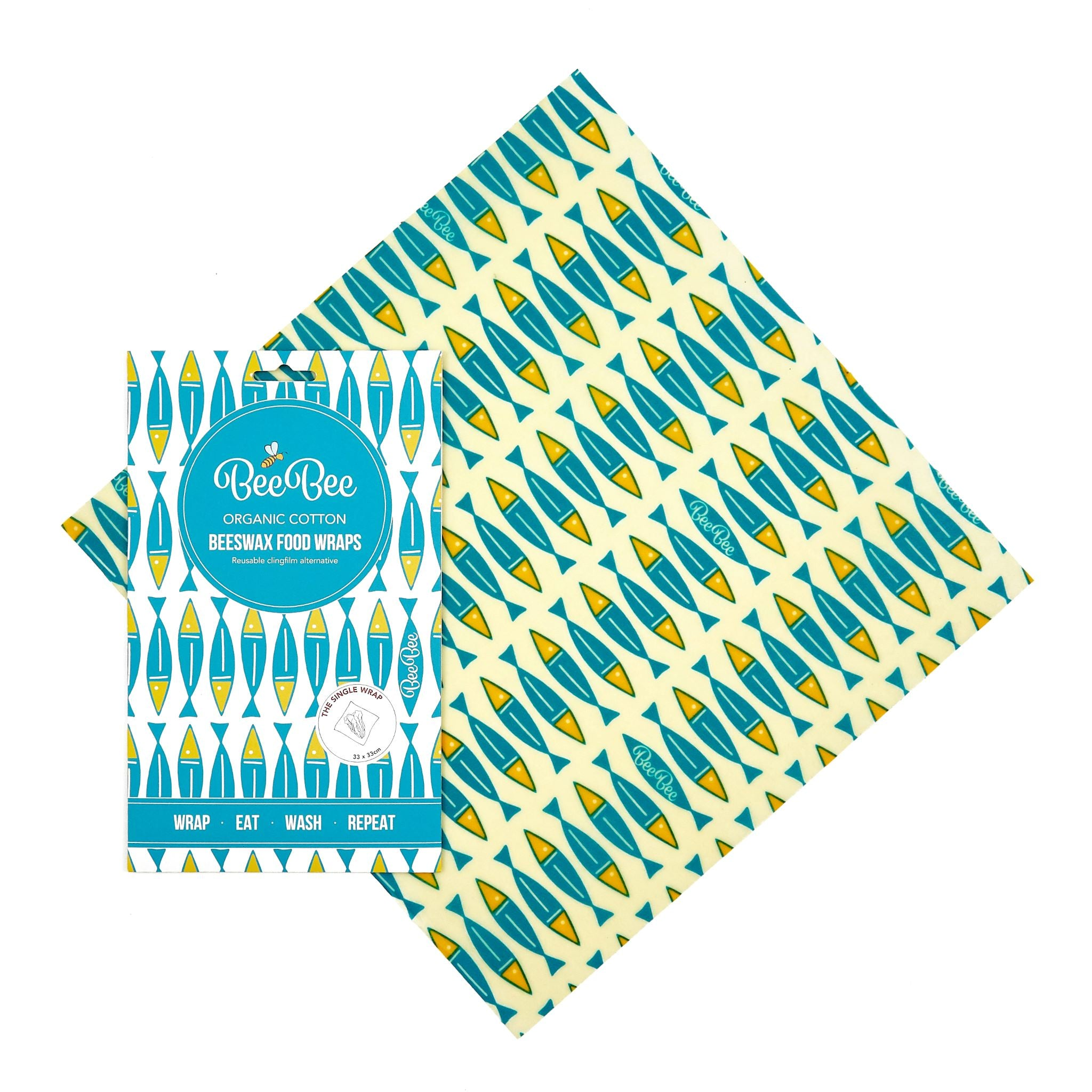 Beeswax Wraps - Sardines - Single