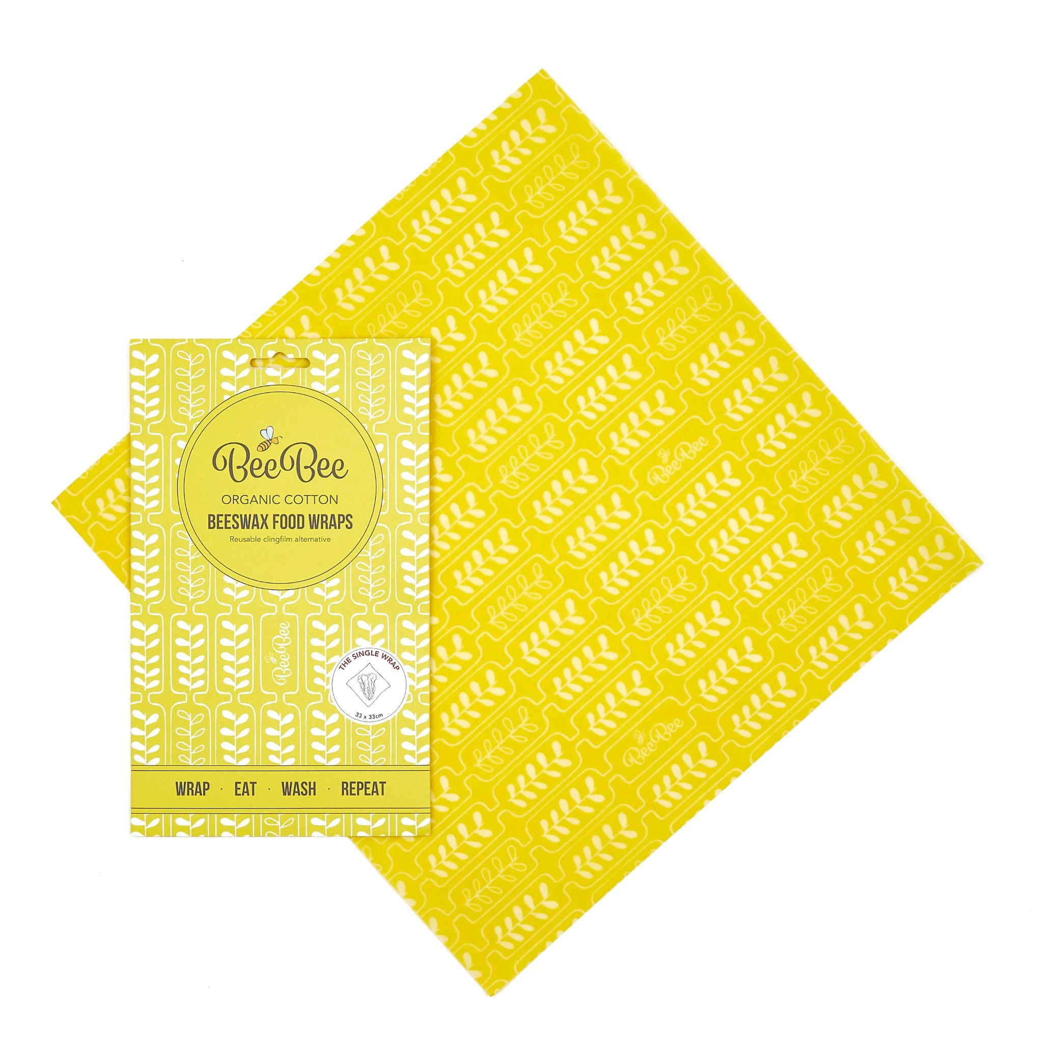 Beeswax Wraps - Wheat - Single