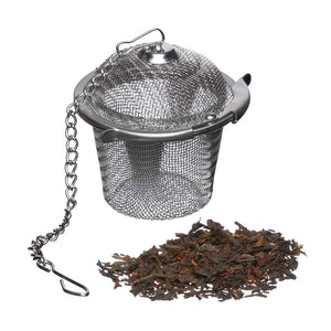 Reusable tea infuser for loose leaf tea