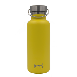 Insulated water bottle - yellow - profits to waterfall charity