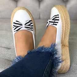 Round Toe Bowknot Casual Flats