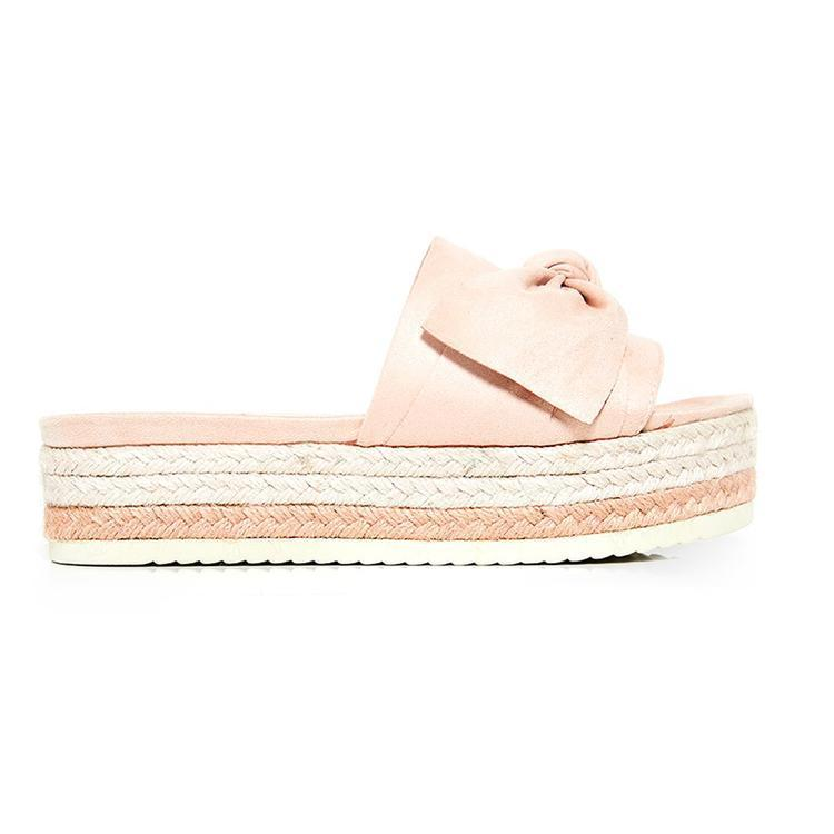 Women Bow Espadrilles Flatform Shoes
