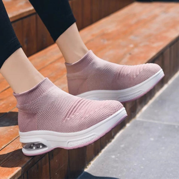 Women's Breathble Mesh Air Cushion Flying Sneakers