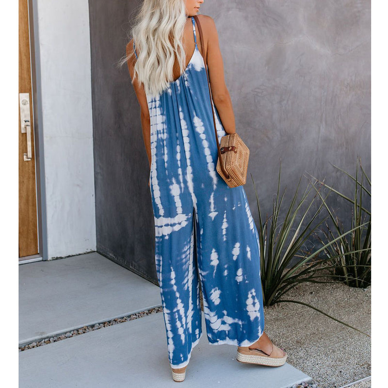 Loose New Sling Print Jumpsuit