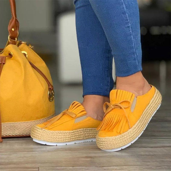 Women Leisure Thick Bottom Half Slippers