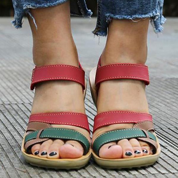 Women's PU Sandals Casual Shoes Magic Tape Sandals