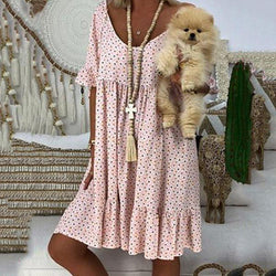 Loose Casual Polka Dot Dress