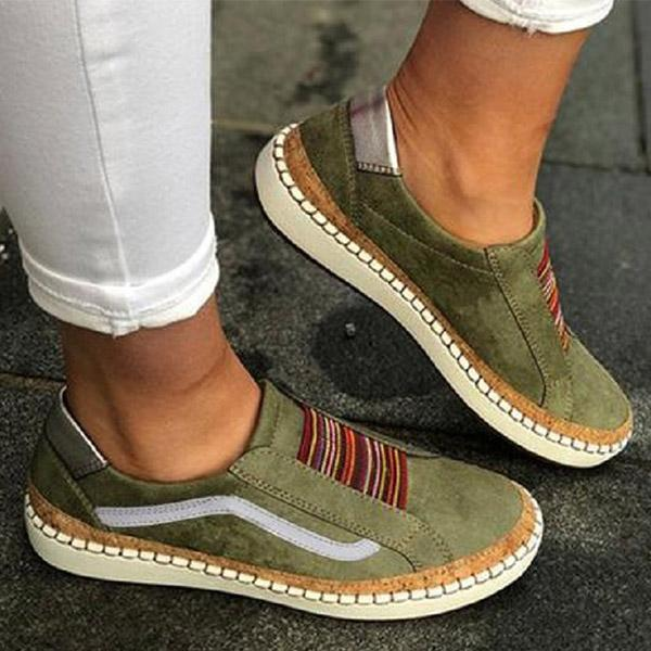 Women Casual Slip-on Flats Outdoor Comfortable Flat Shoes