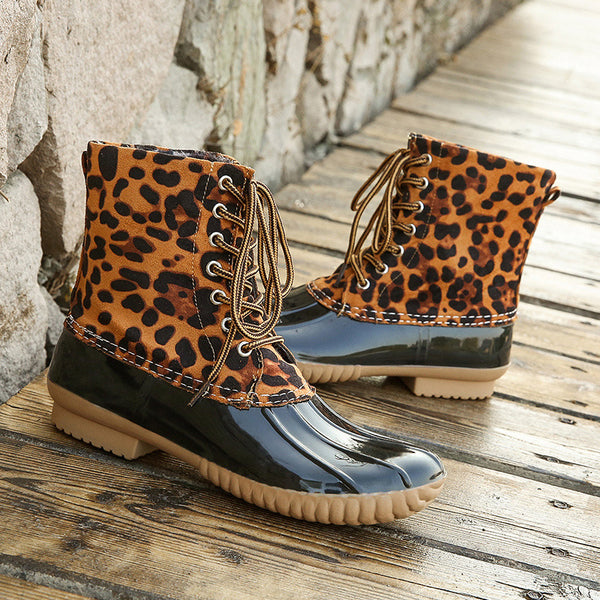 Fashion Leopard Print Women's Boots