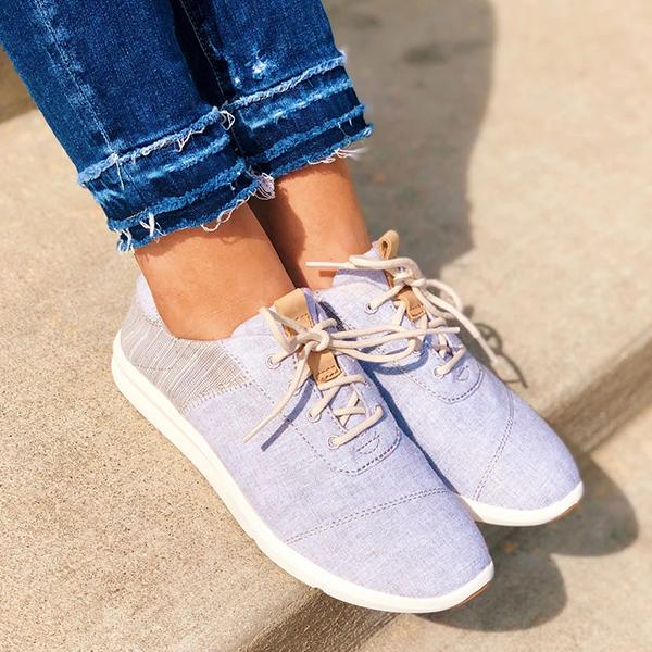 Uellos Casual Lace-Up Round Toe Sneakers