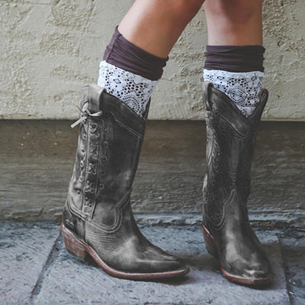 Comfortable Round Head Mid-calf Boots