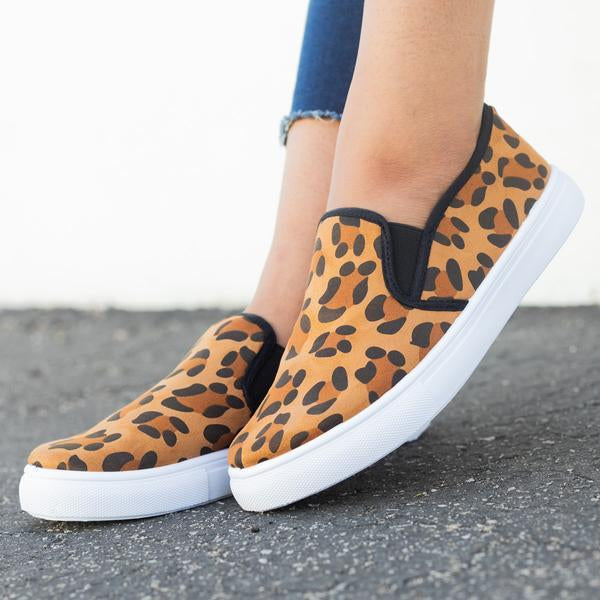 Casual Round Head Slip-On Flat Shoes