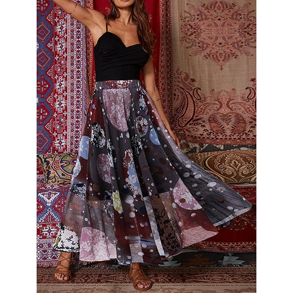 Women's Elegant Printed Skirt