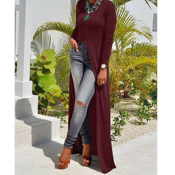 Women Sexy R-Neck Long  Sleeve Dress
