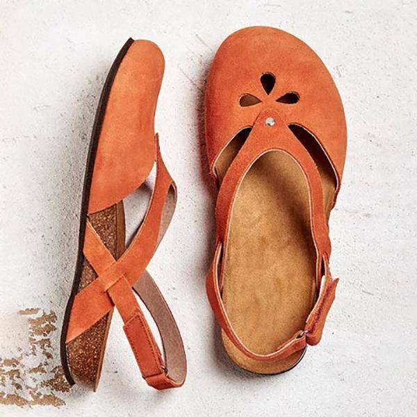 Solid Color Casual Hollow Flat Sandals