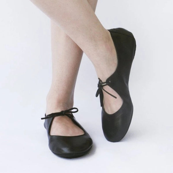 Womens Ballet Flats Comfortable Lace-Up Summer Flats