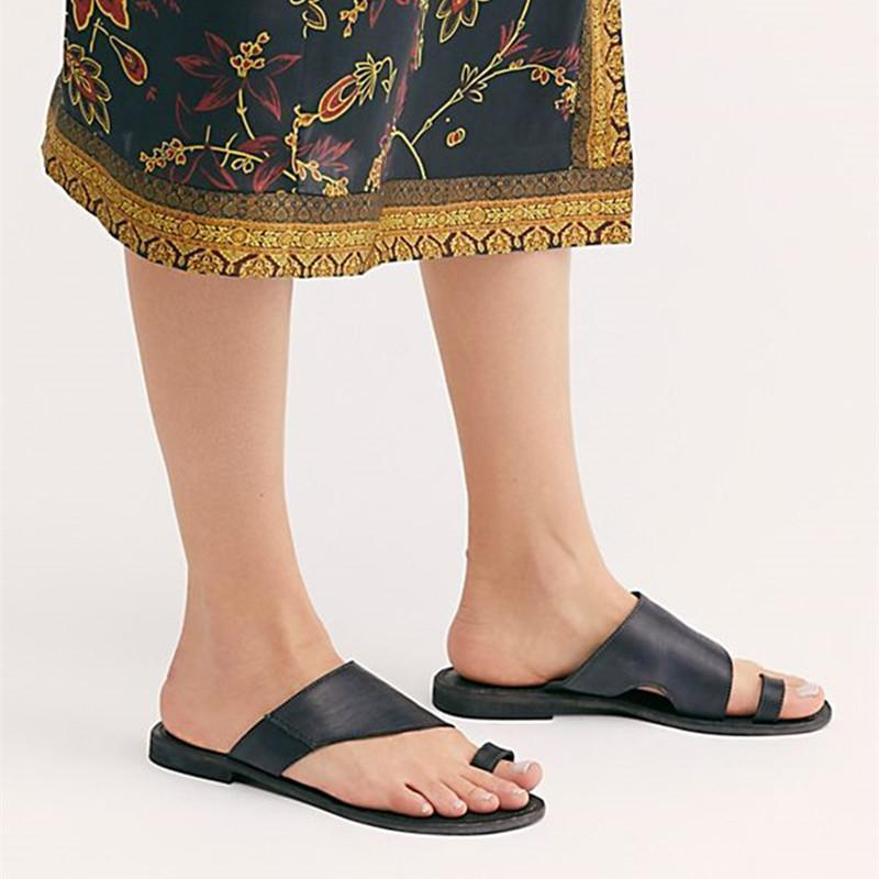 New Hollow Set Toe Slippers Flat Sandals