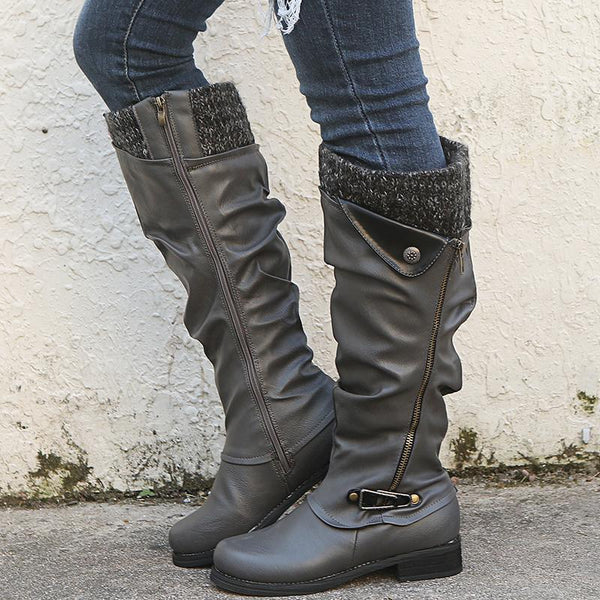 Fashion Flat Knee High Boots