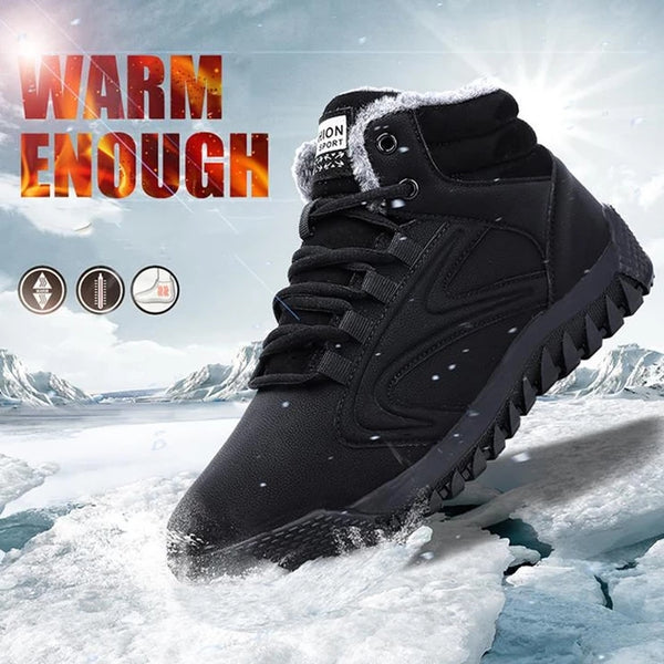 Winter Waterproof Cotton Anti-skiing Plush Casual  Warm Snow Ankle Boots