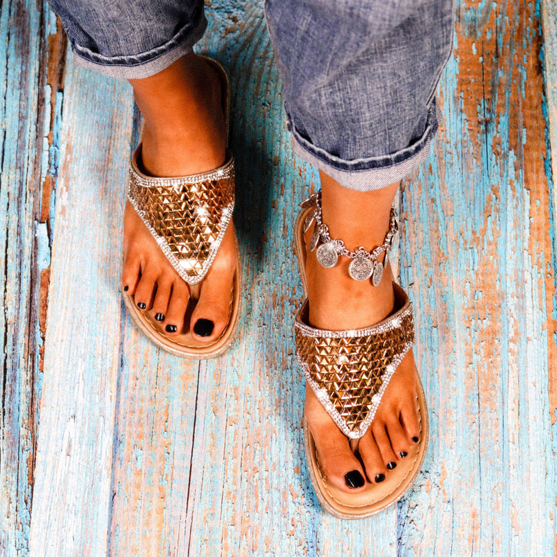 Summer Beach Women Platform Bling Rhinestone Lady Casual Slippers