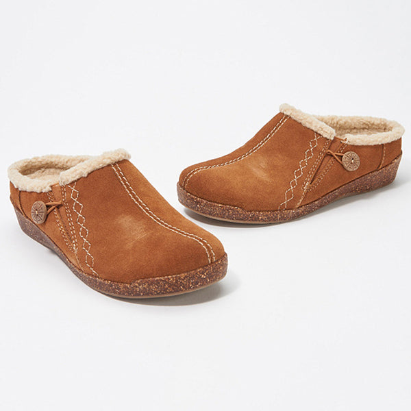 Winter Suede Slip-On Slippers