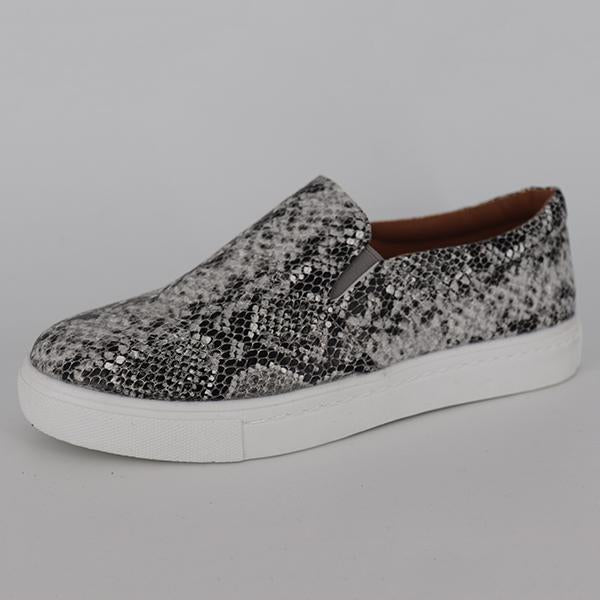 Casual Printed Flat Loafers