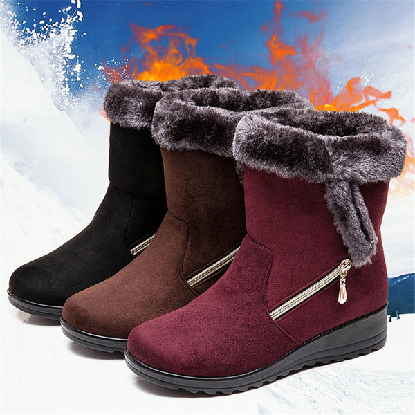 Winter Women Warm Plush Ankle Snow Boots