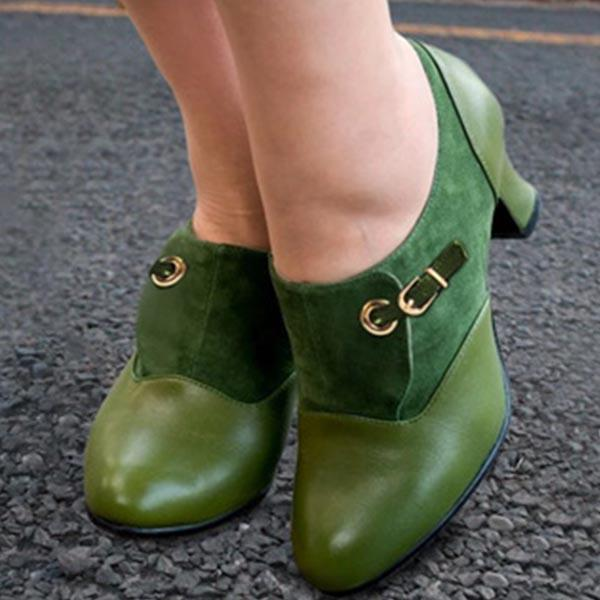 Women Vintage Slip On Ankle Boots