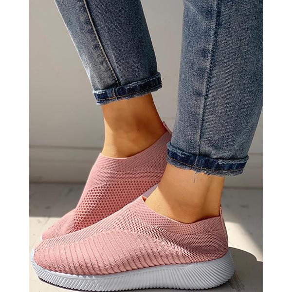 Casual Fly-knit Slip-On Sneakers