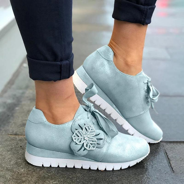 Casual Lace-up Sneakers Wedges Running Shoes