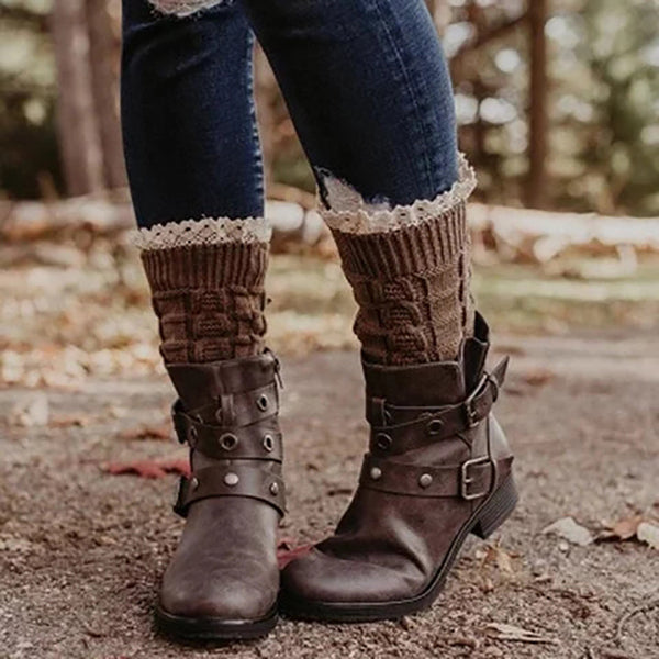 Women's Vintage Studded Comfort Boots